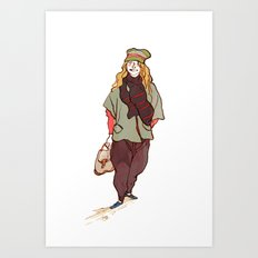 Girl and a Tuque Art Print