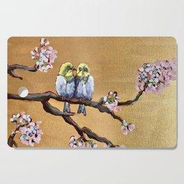 Cherry Blossom Chicks Cutting Board