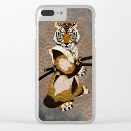 Tiger Samurai Ronin Clear iPhone Case