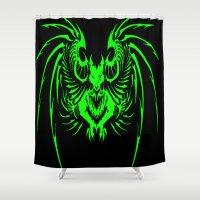 demon Shower Curtains featuring demon by Littlefox