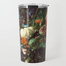 Vase of Flowers II - de Heem Travel Mug