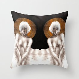 Gold Leaf Babe II Throw Pillow