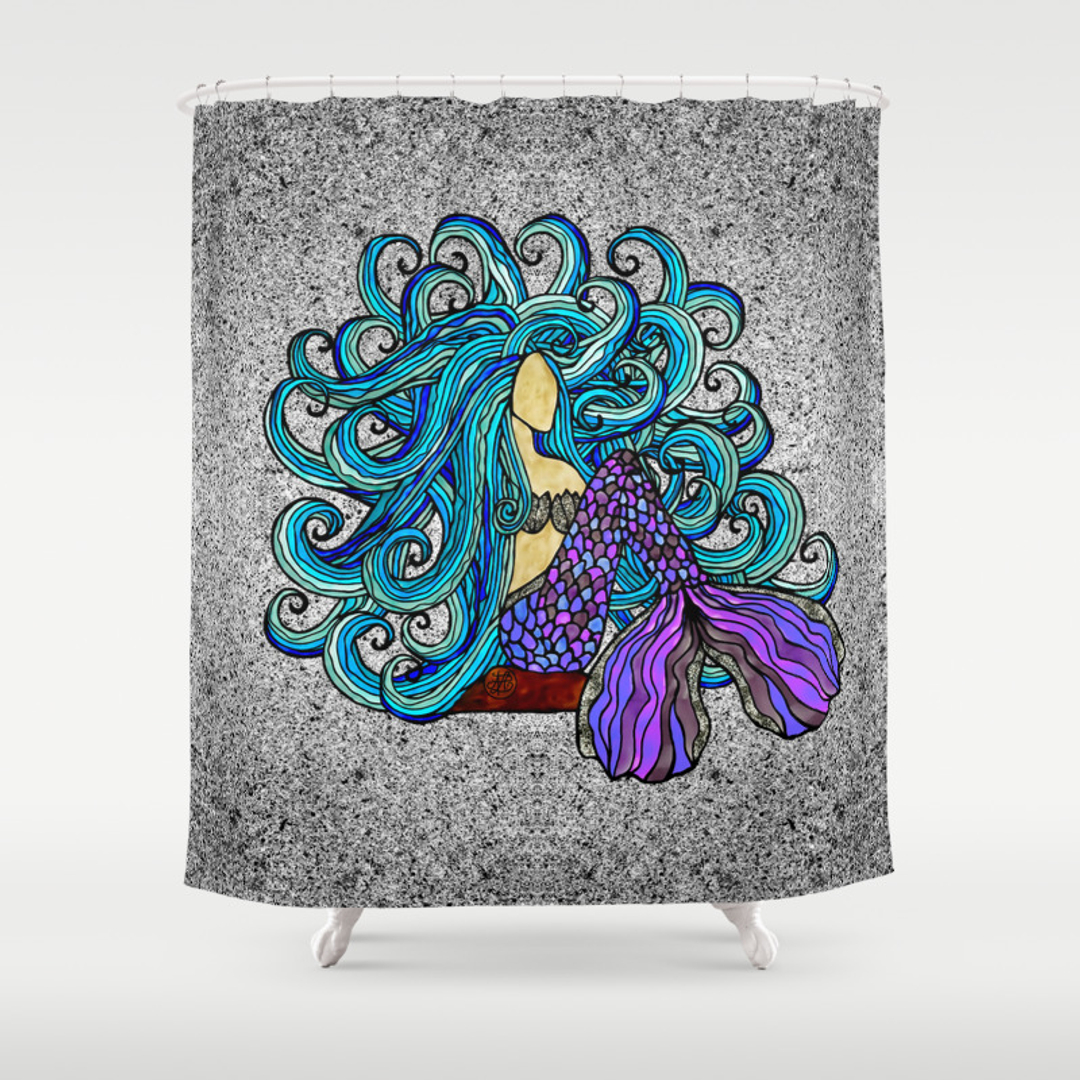 Mermaid shower curtains - Mermaid Shower Curtains 35