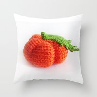 pumpkin Throw Pillows featuring pumpkin by Tanya Pligina