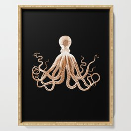 Octopus sea nautical beach coastal Serving Tray