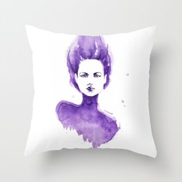 Purple Water Faery Throw Pillow