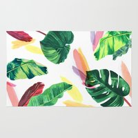 palm Area & Throw Rugs featuring PALM by Ellie Cryer