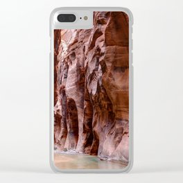 The Narrows Zion National Park Utah Clear iPhone Case