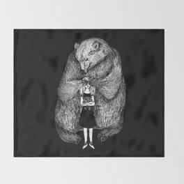 Two bears Throw Blanket