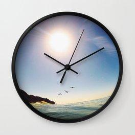 Flight To Point Mugu Wall Clock
