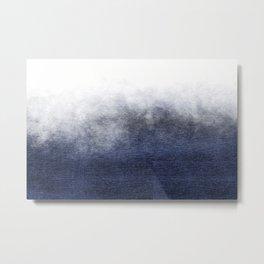 Ocean Mist - Indigo Metallic Ombre Metal Print