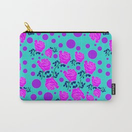 blue garden of roses Carry-All Pouch