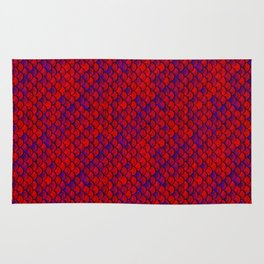 Red Purple Scales Rug