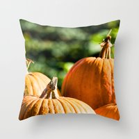 vegetable Throw Pillows featuring  autumn vegetable by Karl-Heinz Lüpke