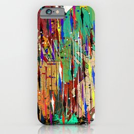 abstract coloured line and geometric shapes iPhone Case