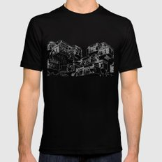 Habitat 67 - Modern Architecture B&W Black SMALL Mens Fitted Tee