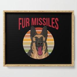 Dog German Shepherd Fur Missels K9 Serving Tray