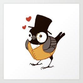 Fancy Chickadee Art Print