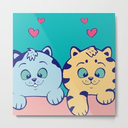 Cat Cute Metal Print