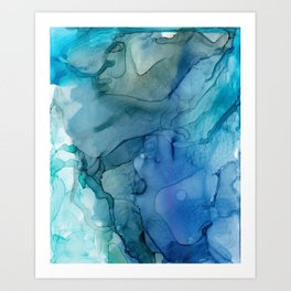 Month of March Blue Abstract Art Print
