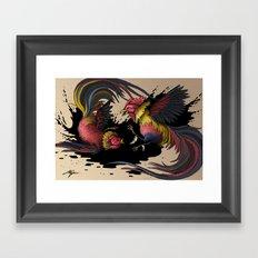 Cock Fight Framed Art Print