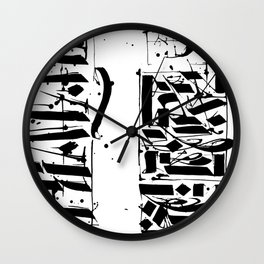 CALLIGRAPHY N°4 ZV Wall Clock