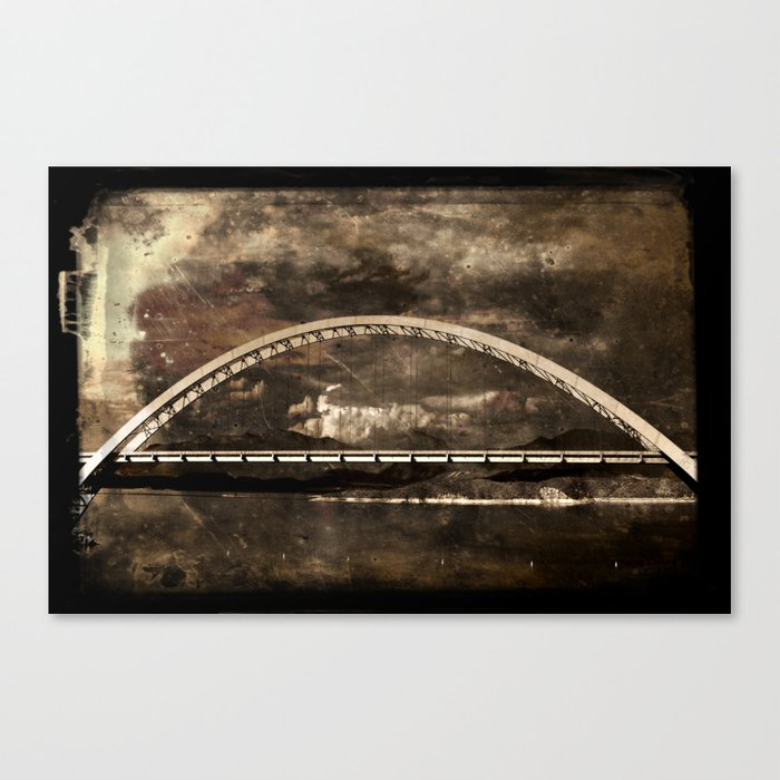 Arched Bridge Over Roosevelt Lake Canvas Print
