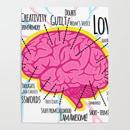 Brain Map Poster