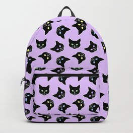 Pussycats Forever (black on lavender purple) Backpack