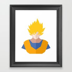 Goku SSJ Framed Art Print