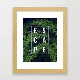 Tropical Escape Framed Art Print