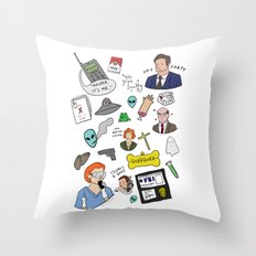 The X-Files Throw Pillow