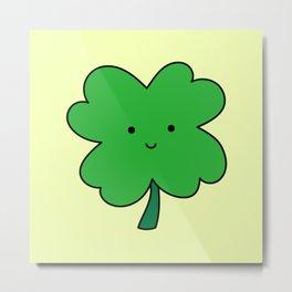 Lucky Four Leaf Clover Metal Print