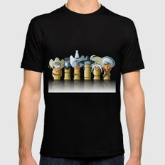 The Toon Bullets (aged version) Mens Fitted Tee MEDIUM Black