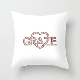 GRAZIE DI CUORE Throw Pillow