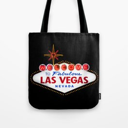 Welcome to Fabulous Las Vegas vintage sign neon on dark background  Tote Bag