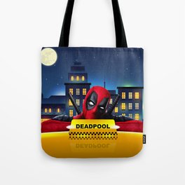 Dead Pool Taxi Night Tote Bag