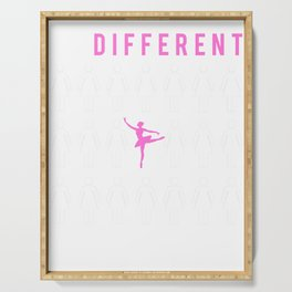 ballet be different t-shirt for merry christmas Serving Tray