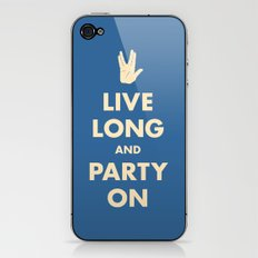 Live Long and Party On (Blue) iPhone & iPod Skin