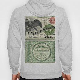 1863 $100 Legal Tender Bank Note Gold Certificate Hoody