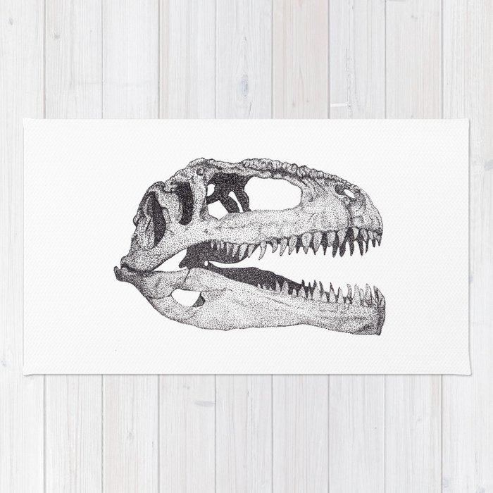 The Anatomy of a Dinosaur II - Jurassic Park Rug by sobottostudies ...