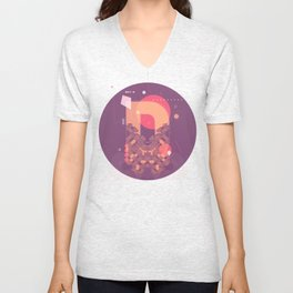 D (Pattern-Infected Type) Unisex V-Neck