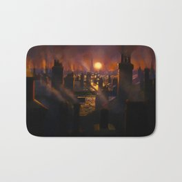 Mary Poppins Rooftop Sunset Bath Mat
