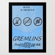 GREMLINS Art Print