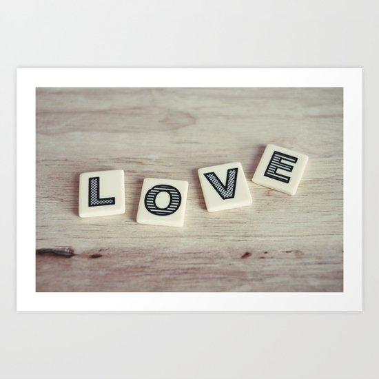 letter love Art Print