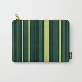 Yellow and Shades of Green Stripes Carry-All Pouch