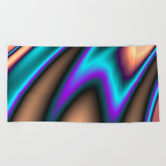 Abstract Fractal Colorways 03 Southwestern Beach Towel