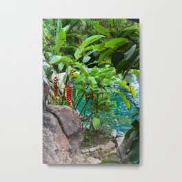 Dreamy Garden Views Metal Print