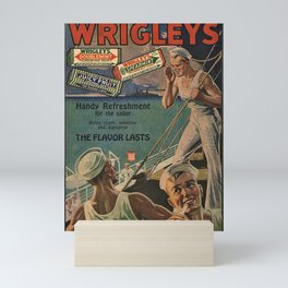 Vintage 1918 Wrigley's Chewing Gum Advertisement with sailors Mini Art Print