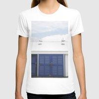doors T-shirts featuring Blue Doors by Rachelvb